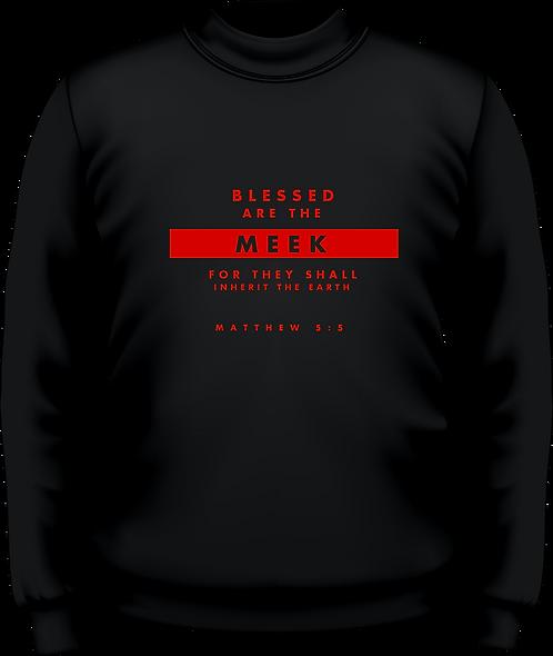 Matthew 5:5 - Men's Sweatshirt -Beatitudes - Black