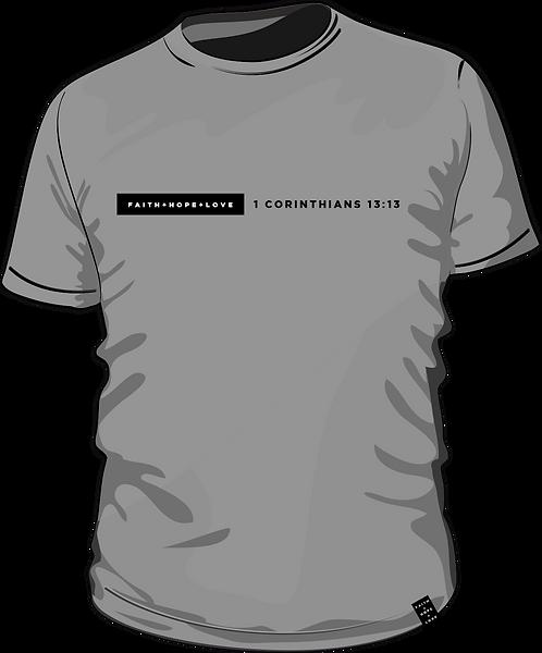 1 Corinthians 13:13 - Men's T-Shirt - Grey