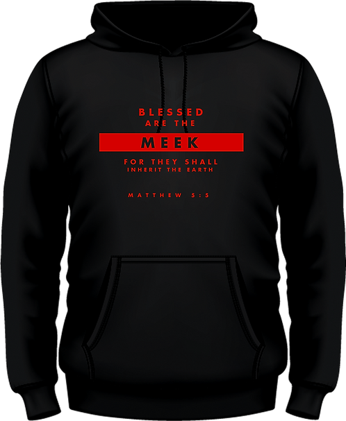 Matthew 5:5 - Hooded Top - Beatitudes -  Black