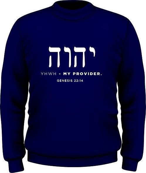 Genesis 22:14 - Women's Sweatshirt YHWH-Heb Navy