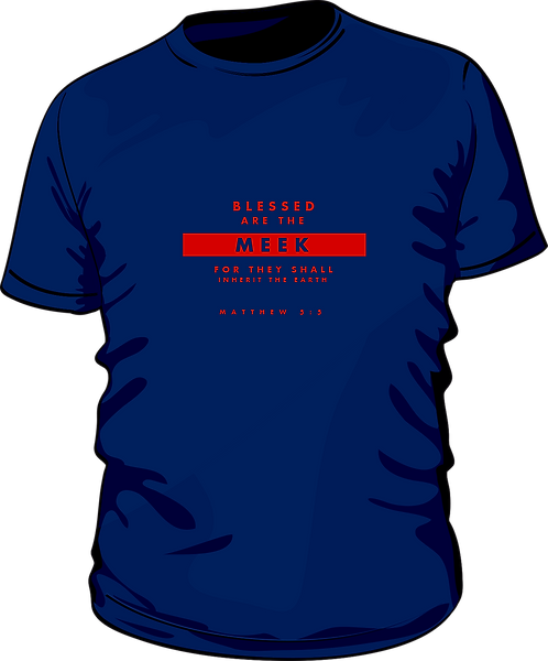 Matthew 5:5 - Women's T-shirt - Beatitudes - Navy