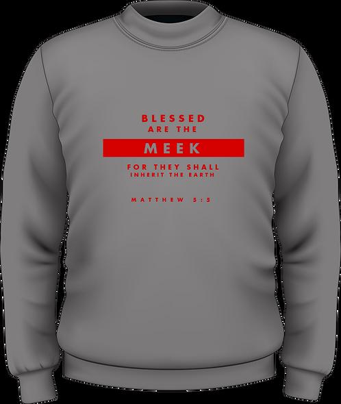 Matthew 5:5 - Women's Sweatshirt - Beatitudes - Grey