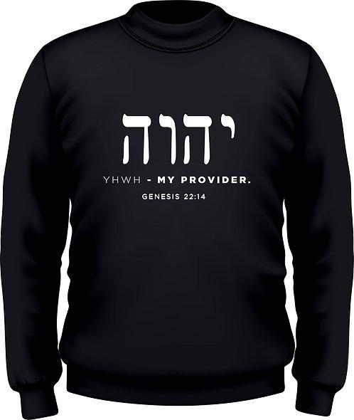 Genesis 22:14 - Women's Sweatshirt YHWH-Heb Black