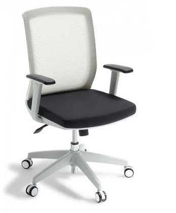 OFFICE CHAIR WHITE Media Office Chair (arms included)
