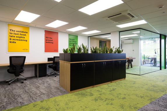 NZ Golf office fit-out & interior design.