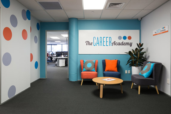 The Career Academy office fit-out & interior design.