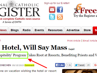 Clergy Hospitality is featured on the National Catholic Register