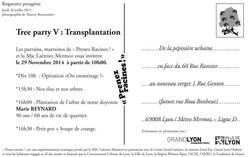 """Prenez Racines"" Carte d'invitation"