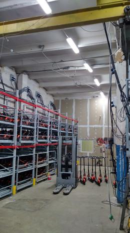 Электромонтажные работы на складах