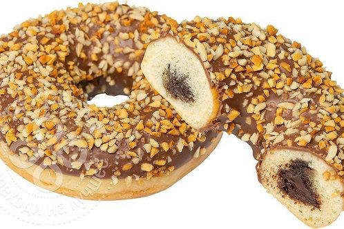 Донат с ореховой начинкой покрытый орехом Dawn Foods 12 шт  х 71 г, Польша
