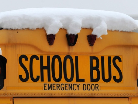 School buses cancelled, school is open via remote learning not in-person.