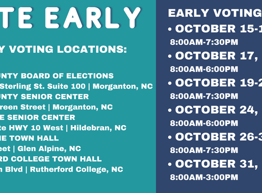 Early Voting has Arrived