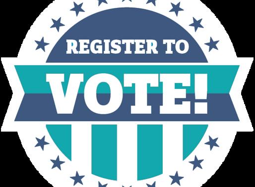 LAST WEEK TO REGISTER TO VOTE!