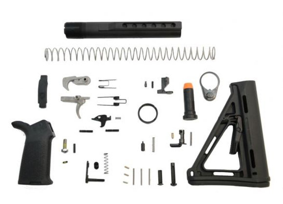 PSA PA10 MOE EPT LOWER BUILD KIT, BLACK