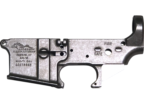 Anderson AM-15 Forged Stripped AR15 Lower Receiver - Unfinished RAW