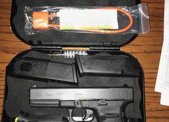 "New Glock G21 Gen 4 Semi Auto Pistol 45 ACP 4.6"""