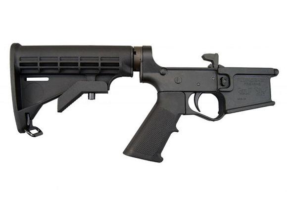 Plum Crazy Polymer Complete AR-15 Lower Receiver - Black