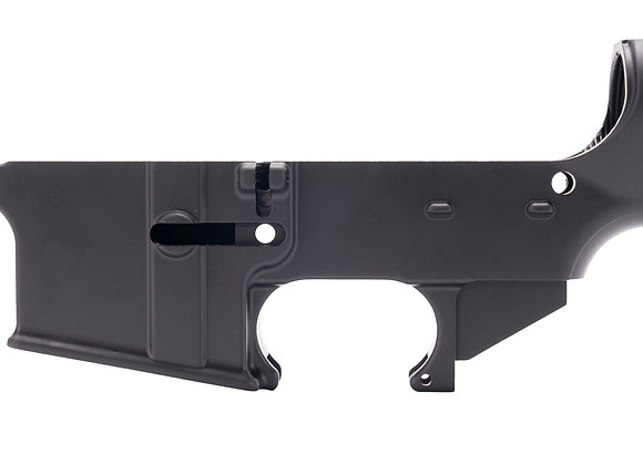 80% Machined Lower Receiver, Black Anodized, Open Trigger