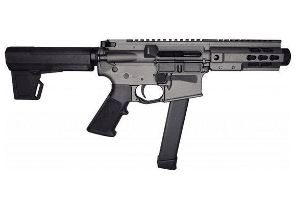 "Brigade MFG BM-9 Forged Aluminum AR Pistol - Grey   9mm   5.5"" Barrel   5"" U-LOC"
