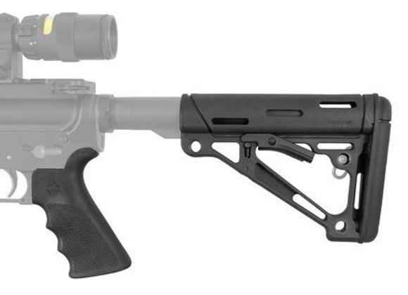 Hogue AR-15/M-16 Kit - Finger Groove Beavertail Grip & Over-Molded Collapsible B