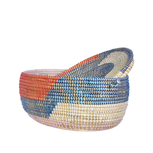 Large Flat Top Oval Knitting Basket