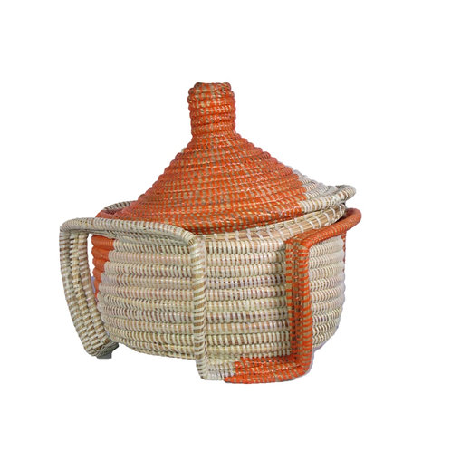 Medium Bulb Top Basket with Side Handles