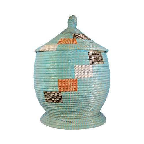 Large Basket with Bulb Top and Raised Base