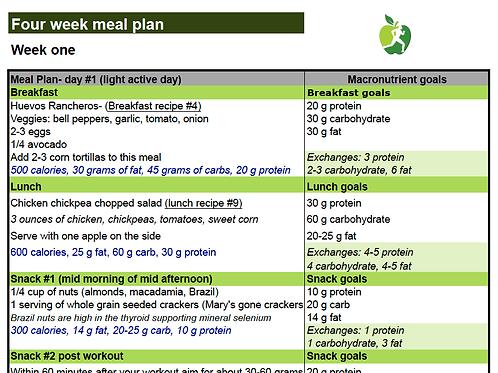 Detailed Nutrition Plan (2500 calorie/balanced)