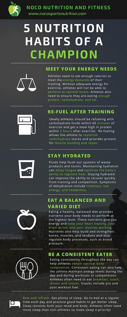 Nutrition Habits of Champion