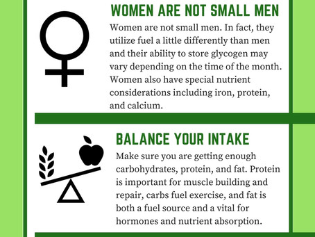 Nutrition Considerations For Female Athletes