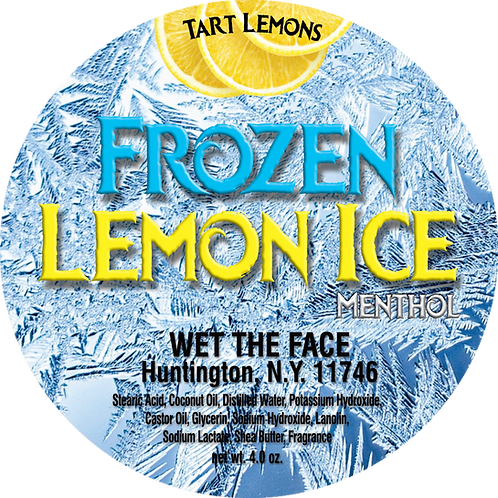 Frozen Lemon Ice Shaving Soap
