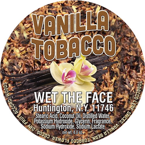 Vanilla Tobacco Shaving Soap