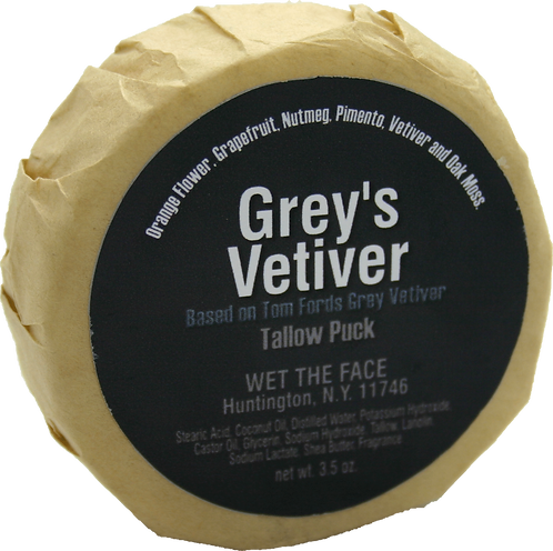 WTF Tallow Puck Grey's Vetiver   3.5oz