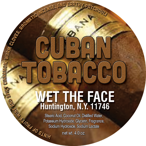 Cuban Tobacco Shaving Soap