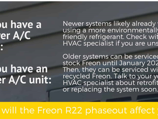 How will the Freon R22 affect you?