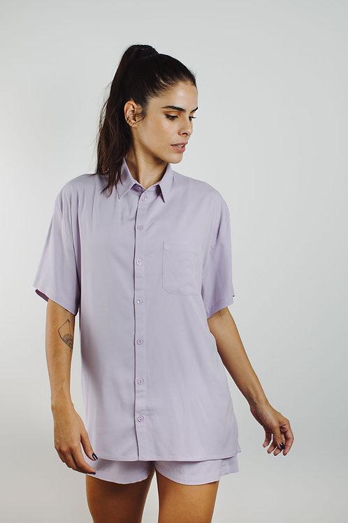 camisa de Sta. Cecília lilás