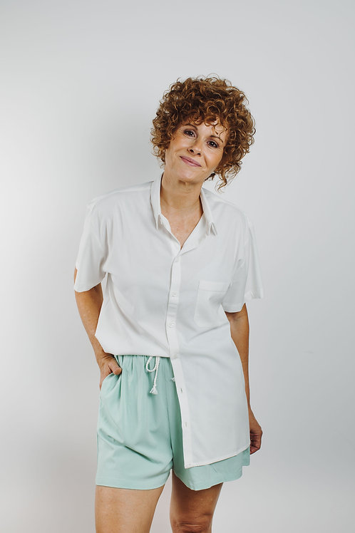 camisa de Sta. Cecília branca