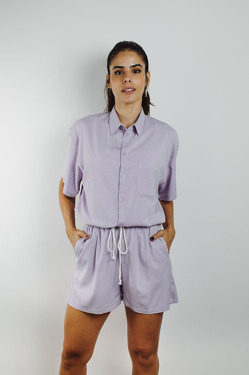 shorts de Sta. Cecília lilás