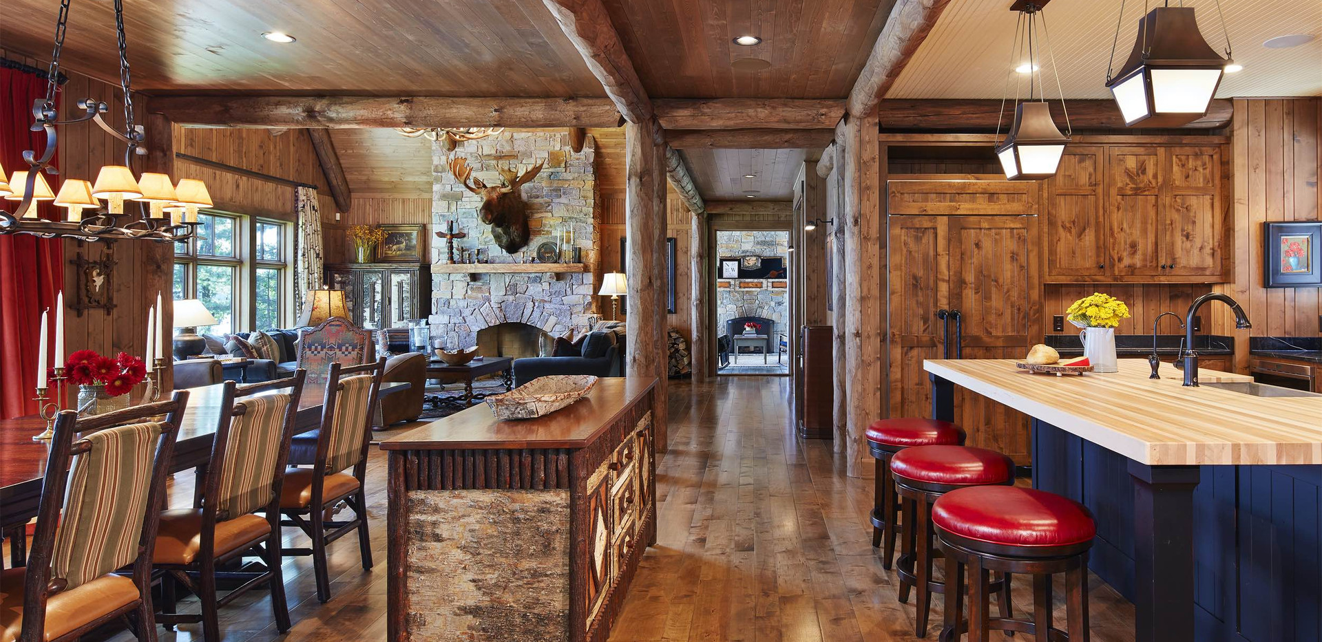 Traditional Timber Frame Living Space