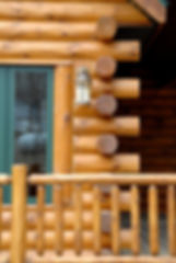 Lincoln log home construction
