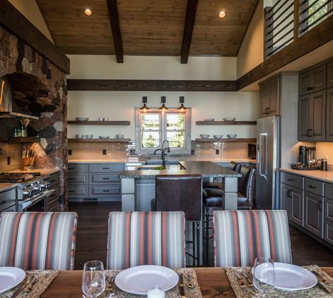 Contemporary lake home kitchen
