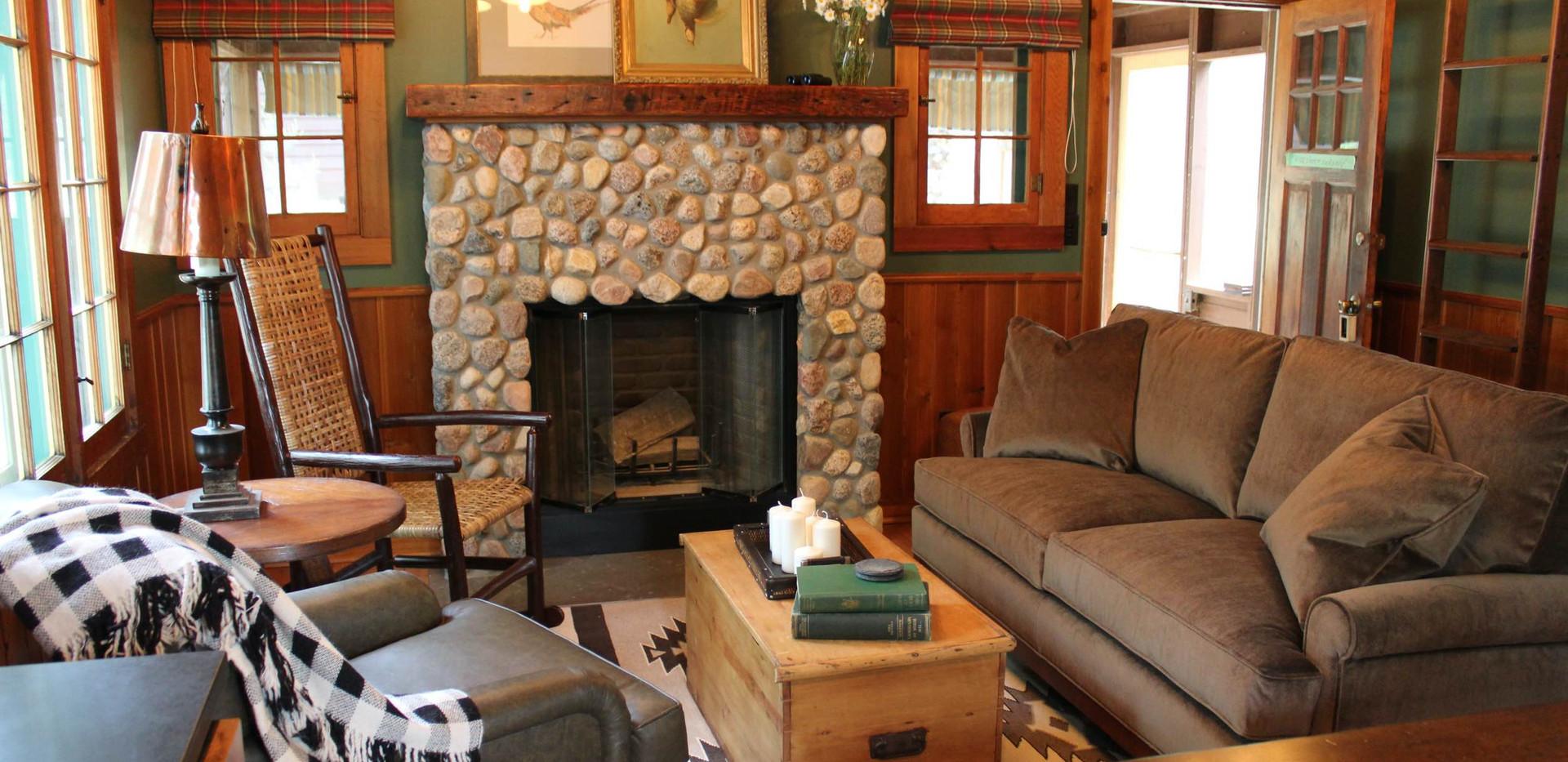 Vintage Cabin Remodel Living Room