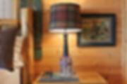 Flannel multi color plaid fabric lamp shade