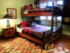 Hickory bunk bed twin over queen