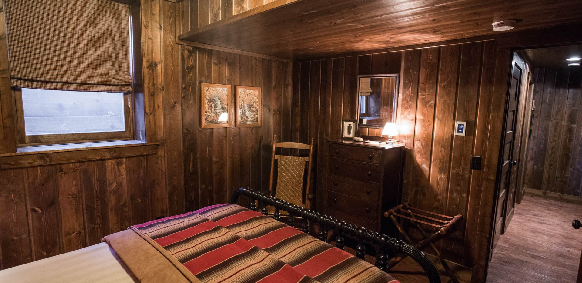 Vintage Cabin Guest Room