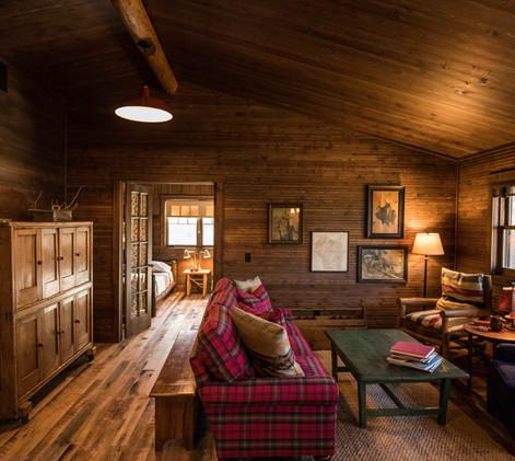 Vintage Cabin Living Room