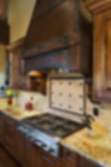 Kitchen stove backsplash diagonal tile with border