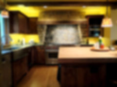 Up lit kitchen cabinetry