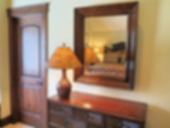 In Law suite bedroom Adirondack dresser and mirror