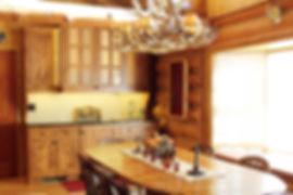 Built in wet bar log cabin kitchen remodel